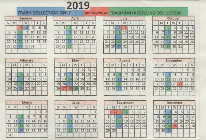 Village of Theresa Trash and Recycling Calendar